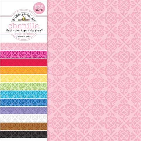 Specialty Cardstock Value Pack Flocked Chenille12inx12in