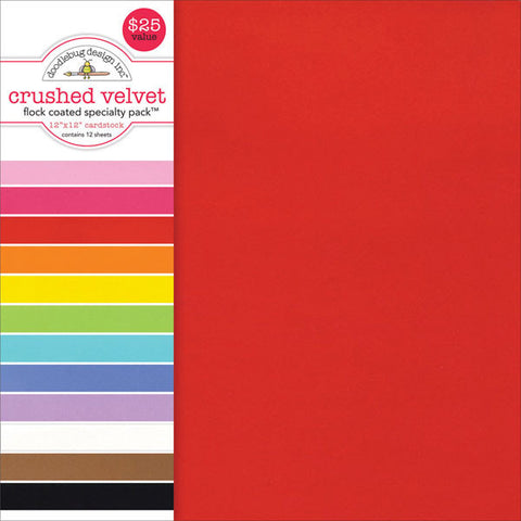 Specialty Cardstock Value Pack Flocked Crushed Velvet12inx12in