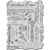 Stampendous Christmas Cling Rubber Stamp - Christmas Background