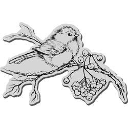 Stampendous Christmas Cling Rubber Stamp Snow Bird