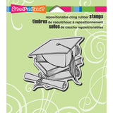 Stampendous Cling Rubber Stamp Cap and Scroll