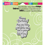 Stampendous Cling Rubber Stamp Delightful Birthday