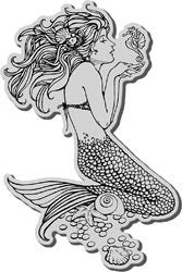 Stampendous Cling Rubber Stamp Mermaid