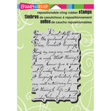 Stampendous Cling Rubber Stamp Vintage Note
