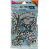 Stampendous Fran's Cling Stamps and Stencils Seashells