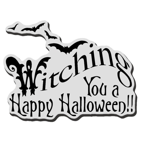 Stampendous Halloween Cling Rubber Stamp Witching U