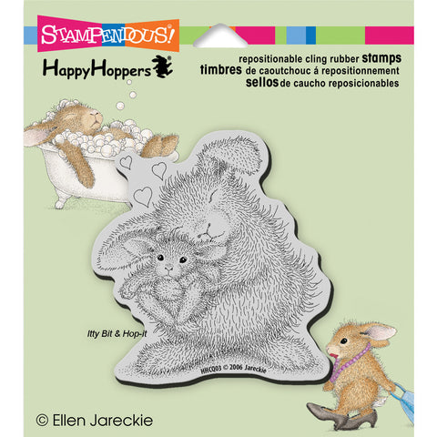 Stampendous HappyHopper Cling Stamp Bunny Luv