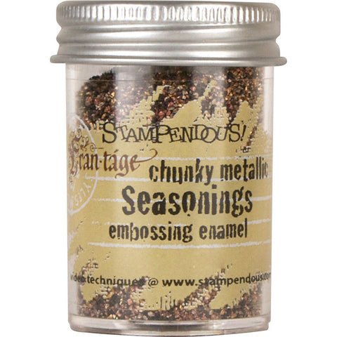 Stampendous Seasonings Embossing Enamel Chunky Metallic