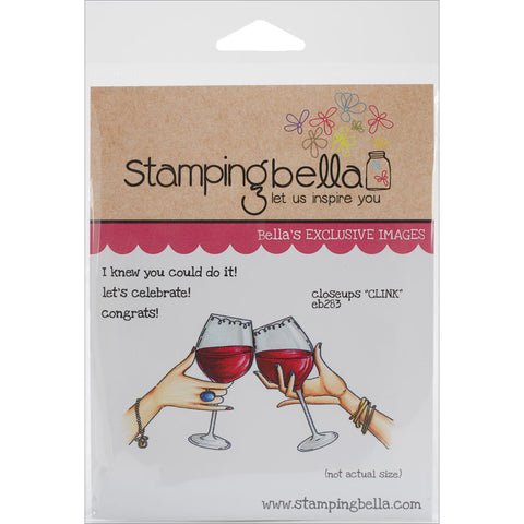 Stamping Bella Cling Rubber Stamp Closeups Clink