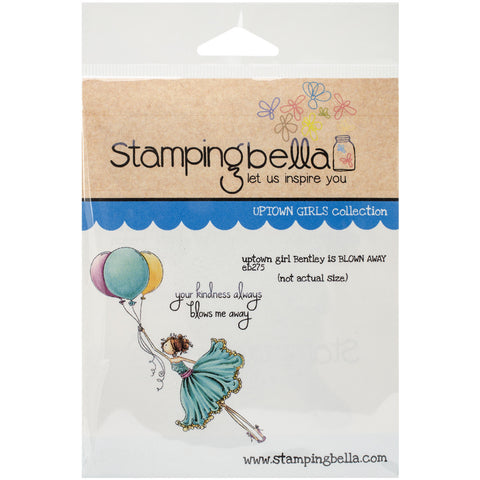 Stamping Bella Cling Rubber Stamp Uptown Girl Bentley Gets Blown Away