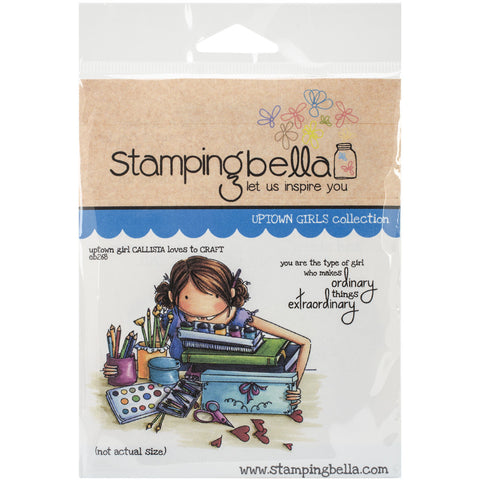 Stamping Bella Cling Rubber Stamp Uptown Girl Callista Loves To Craft