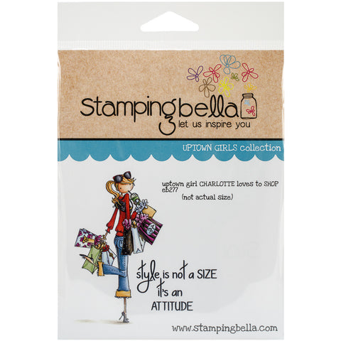 Stamping Bella Cling Rubber Stamp Uptown Girl Charlotte Loves To Shop
