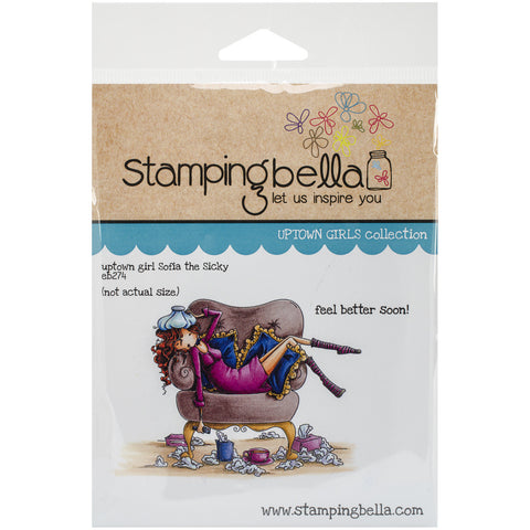 Stamping Bella Cling Rubber Stamp Uptown Girl Sophia Is A Sicky