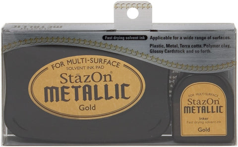 Tsukineko StazOn Metallic Solvent Ink Kit - Gold