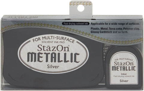 Tsukineko StazOn Metallic Solvent Ink Kit - Silver