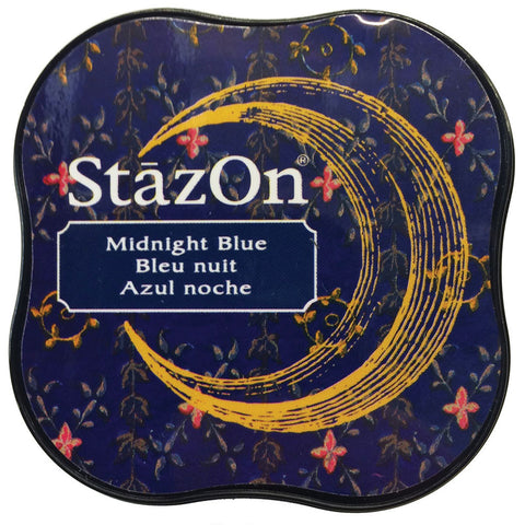 Tsukineko StazOn Midi Ink Pad Midnight Blue