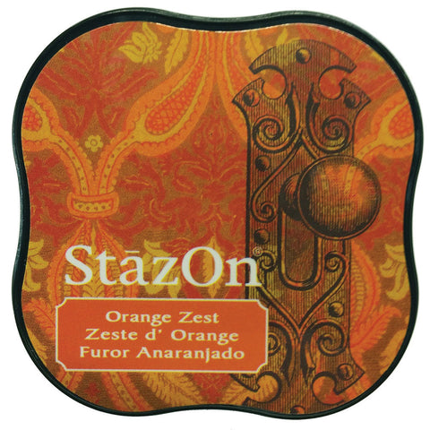 Tsukineko StazOn Midi Ink Pad Orange Zest