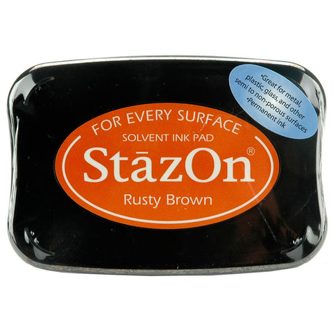 Tsukineko StazOn Solvent Ink Pad Rusty Brown