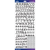 Sticko Alphabet Stickers Black Script