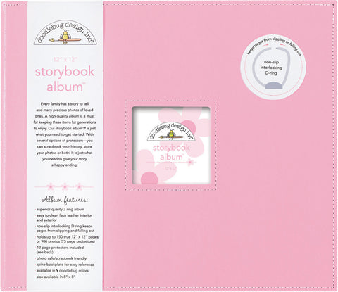 Doodlebug Storybook D-Ring Photo Album Cupcake 12inx12in