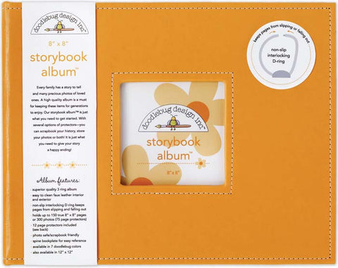 Storybook Album Tangerine 8inx8in