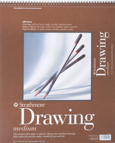 Strathmore Medium Drawing Paper Pad 14inx18in