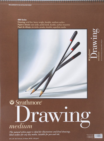 Strathmore Medium Drawing Paper Pad 18inx24in