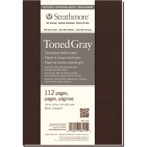 Strathmore Softcover Sketch Journal 5.5inx8inToned Gray
