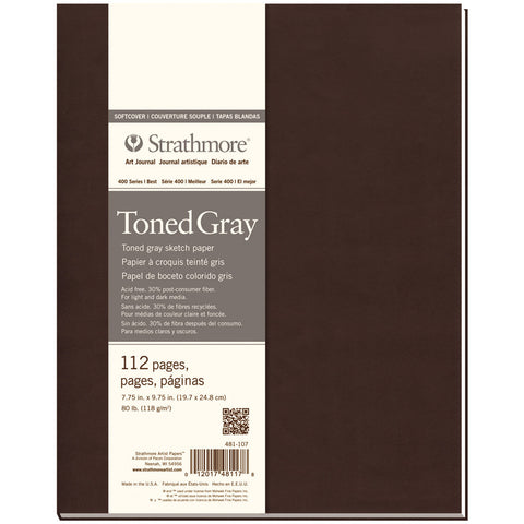 Strathmore Softcover Sketch Journal 7.75inx9.75inToned Gray