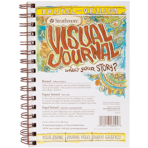 Strathmore Visual Journal Spiral Bound Bristol Vellum 5.5inx8in