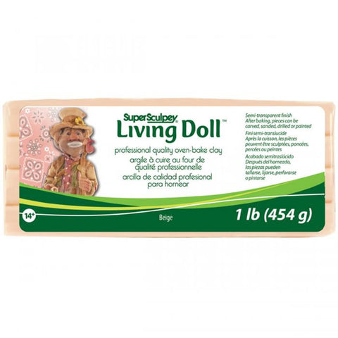 Super Sculpey Living Doll Clay Beige 1lb