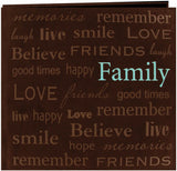 Pioneer Text Faux Suede Post Bound Album Family 12inx12in