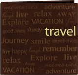 Pioneer Text Faux Suede Post Bound Album Travel 12inx12in