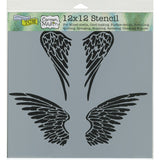 The Crafter's Workshop Template Angel Wings 12inx12in