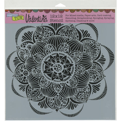 The Crafter's Workshop Template Gin Blossom 12inx12in
