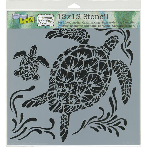 The Crafter's Workshop Template Sea Turtles 12inx12in