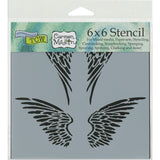 The Crafter's Workshop Template Angel Wings 6inx6in