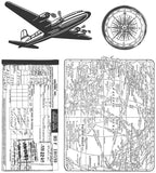 Tim Holtz Cling Rubber Stamps Air Travel