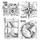 Tim Holtz Cling Rubber Stamps Travel