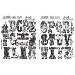 Tim Holtz Cling Rubber Stamp Set Cirque Alphabet