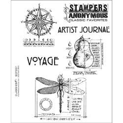 Tim Holtz Cling Rubber Stamps Classics #1