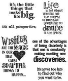 Tim Holtz Cling Rubber Stamps Good Thoughts