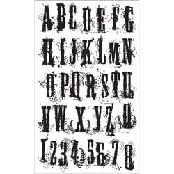Tim Holtz® Cling Rubber Stamp Set - Grudge Alphabet