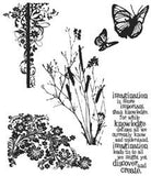 Tim Holtz Cling Rubber Stamps Nature's Discovery