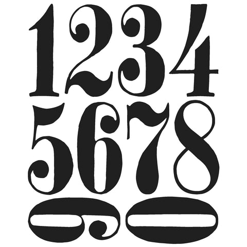 Tim Holtz® Cling Rubber Stamp Set - Numeric