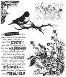 Tim Holtz Cling Rubber Stamps Urban Tapestry