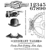 Tim Holtz Cling Rubber Stamps Dapper