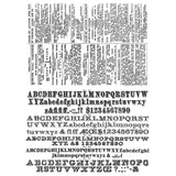 Tim Holtz Cling Rubber Stamps Newsprint and Type