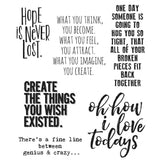 Tim Holtz Cling Rubber Stamps Ponderings