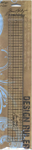 Tim Holtz IdeaOlogy Design Ruler 12in
